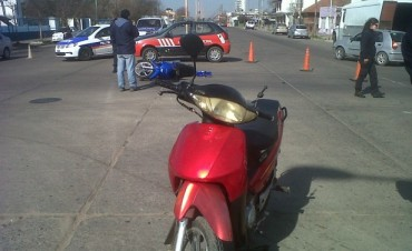 Choque entre dos motos