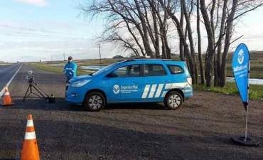 Balance positivo de los controles de velocidad en la ruta nacional 3 y 226