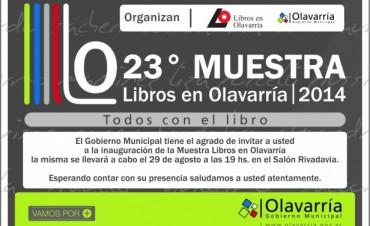 """Inaugura la Muestra """"Libros en Olavarría"""" con diversas propuestas"""
