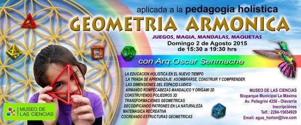 """Taller Vivencial """"La geometría armónica aplicada a la pedagogía holística"""""""