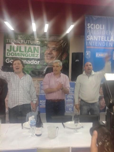 Julián Domínguez en Olavarría