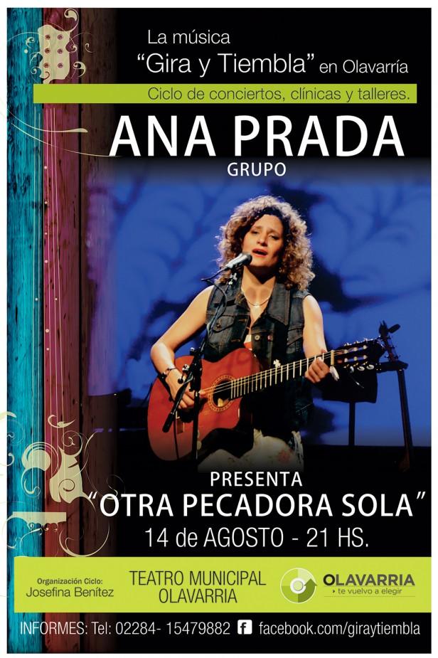"""Ana Prada presenta """"Otra pecadora sola"""" en el Teatro Municipal"""
