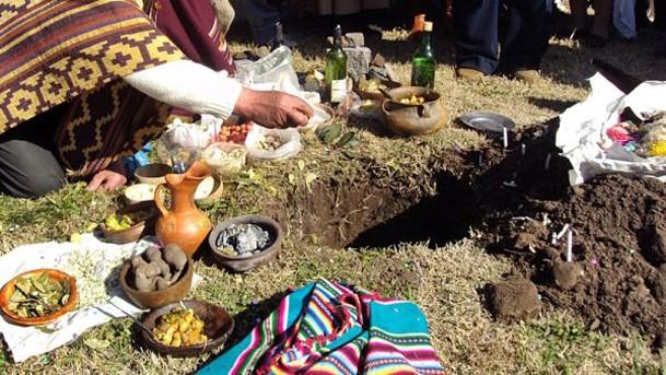 """Celebración de la Pachamama en """"La Máxima"""""""