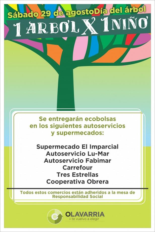 """Plantación de """"Un Árbol por cada Niño"""" en Parque Cerrito"""