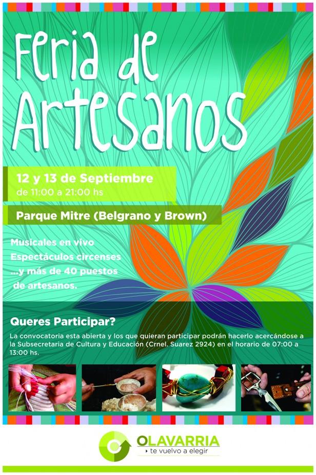 Feria de artesanos en el Parque Mitre