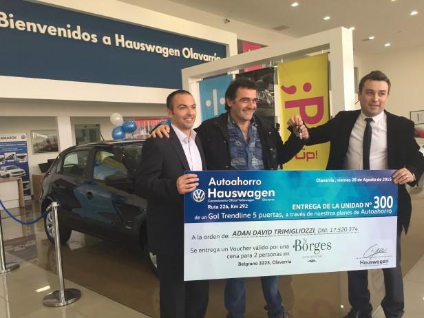 Hauswagen Olavarría entregó el vehículo Nº 300 de Autoahorro