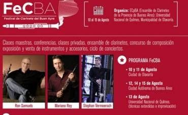 Olavarría será sede del Festival del Clarinete del Buen Ayre