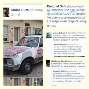 Repudian las pintadas a la casa y auto de un militante eseverrista