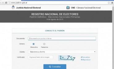 Elecciones: consulta de padrones