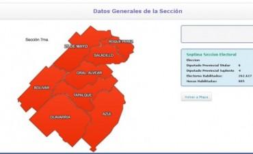 La séptima sección aportará diputados a la Legislatura bonaerense