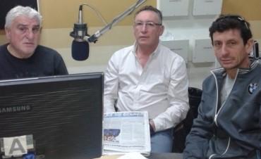 TC en Olavarría: dirigentes del AMCO en LU 32