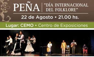 Peña por el Día Internacional del Folklore