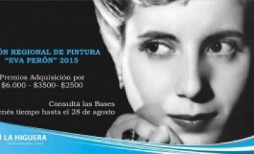 """Recepción de obras para el Salón de Pintura """"Eva Perón"""" 2015"""