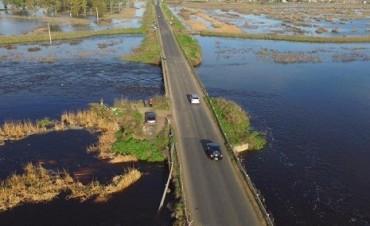 Rutas cortadas por el agua