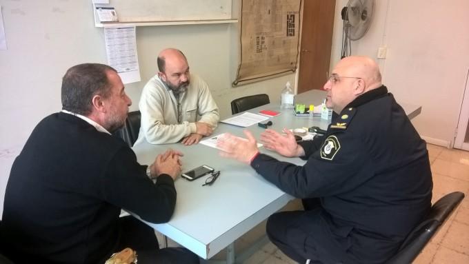Seguridad: los concejales Ripoll y Bajamón se reunieron con el Jefe Distrital
