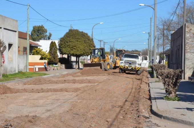 Las obras de pavimentación llegan a las localidades