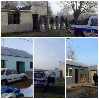 Allanaron cuatro viviendas y detuvieron a personas con antecedentes