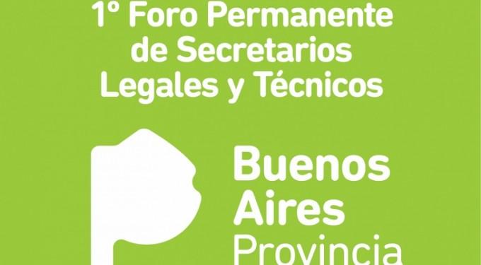 1º Foro Permanente de Secretarios Legales y Técnicos de la provincia de Buenos Aires
