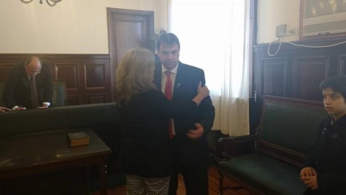 Lordén participó del auxiliar del Juzgado de Paz en Roque Pérez