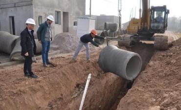 Barrio Pikelado: última etapa de la construcción del conducto pluvial