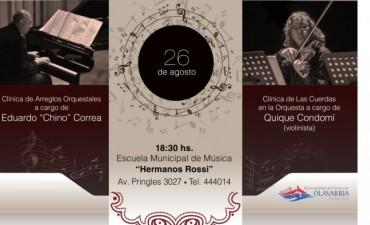 Clínica y concierto a cargo de Eduardo Correa y Enrique Condomí