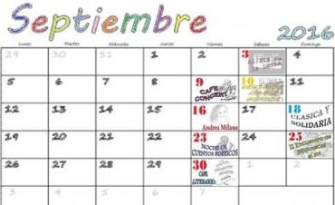 Cronograma de septiembre de actividades de la 1º de Mayo