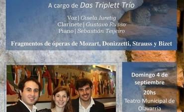 Cantante lírica olavarriense se presenta con un trío de cámara en el Teatro Municipal