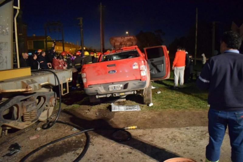 Grave accidente en el paso a nivel de San Jacinto