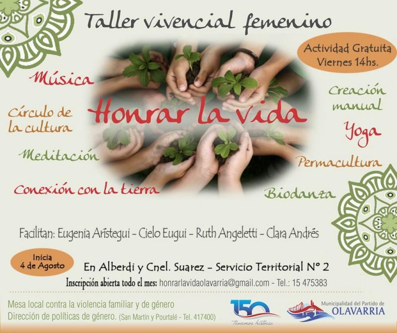 """Taller Vivencial """"Honrar la Vida"""""""