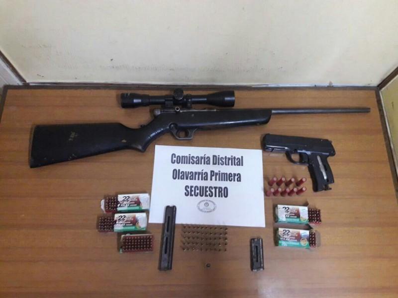 Se secuestraron armas tras distintos allanamientos por el robo a una carnicería