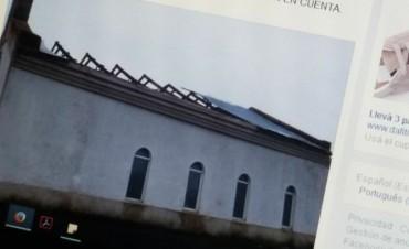 En breve se iniciaría la reparación del techo de la iglesia de Colonia Nievas