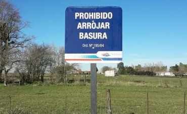Se instaló nueva cartelería en la zona rural