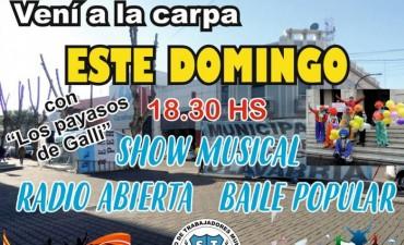 Protesta de municipales: Show musical, radio abierta y
