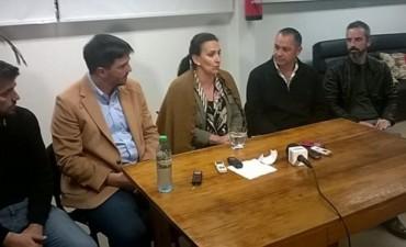 La vicepresidente de la Nación Gabriela Michetti estuvo este sábado en Olavarría