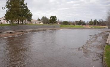 Tareas de limpieza en el Arroyo Tapalqué