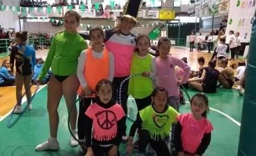 Las pequeñas de Los Robles dijeron presente en el encuentro de aeróbica
