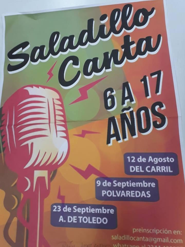 Invitan a participar al Saladillo Canta