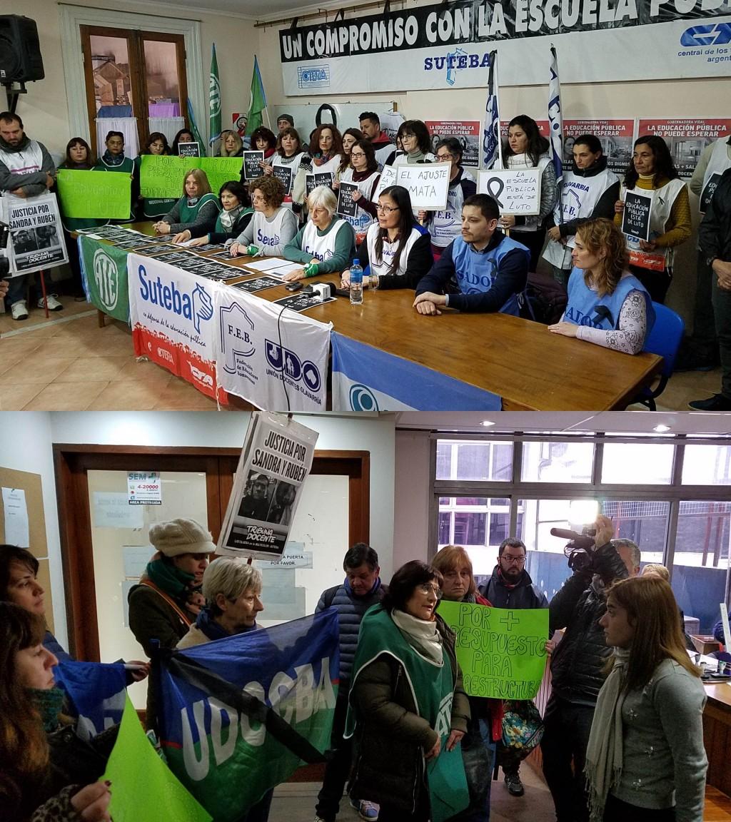 Docentes y auxiliares unidos tras las dos muertes de la Escuela 49 de Moreno