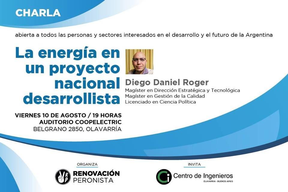 Renovación Peronista aborda el tema de la energía en el Proyecto Nacional