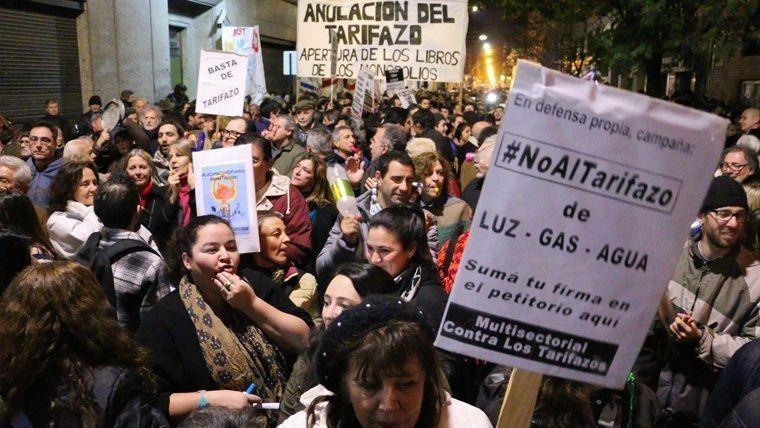 Marcha contra los tarifazos