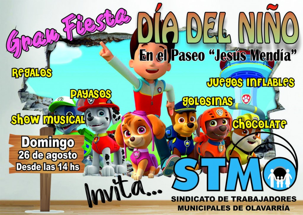 Fiesta del día del niño del sindicato de municipales