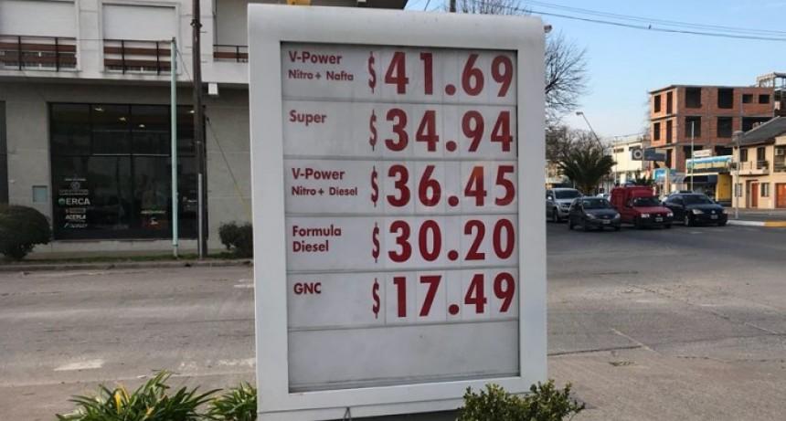 La nafta Premium ya supera los 40 pesos en Olavarría