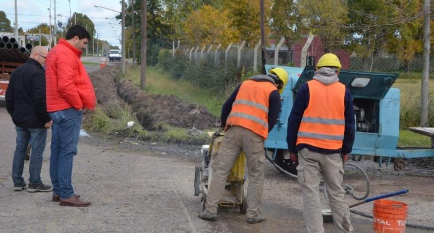 El Municipio finalizó la obra de agua corriente en barrio Lourdes