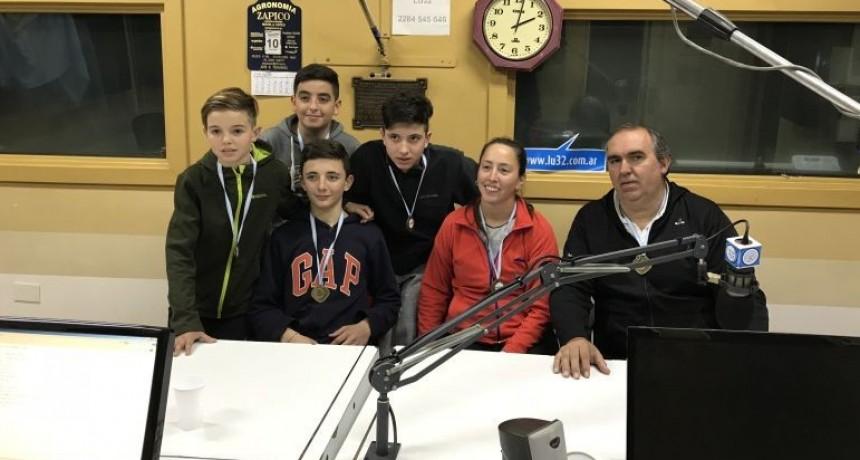 Estuvo en Radio Olavarría parte del equipo de Voley de Provincia de Buenos Aires