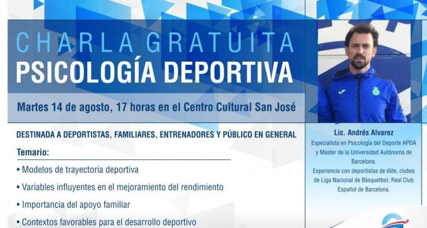 Andrés Alvarez dará una charla sobre Psicología Deportiva