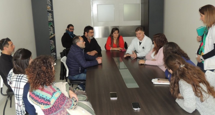 Se realizó reunión urgente con los doctores Caputo y Guanuco