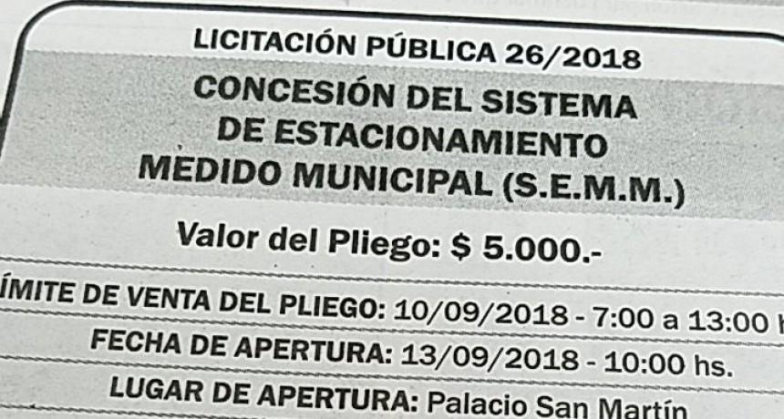 Estacionamiento Medido: La Comuna publicó el llamado a licitación