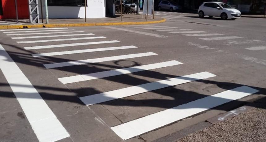 Se realizaron trabajos de señalización para mejorar la seguridad vial