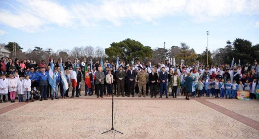 Olavarría conmemoró el aniversario del fallecimiento de San Martín