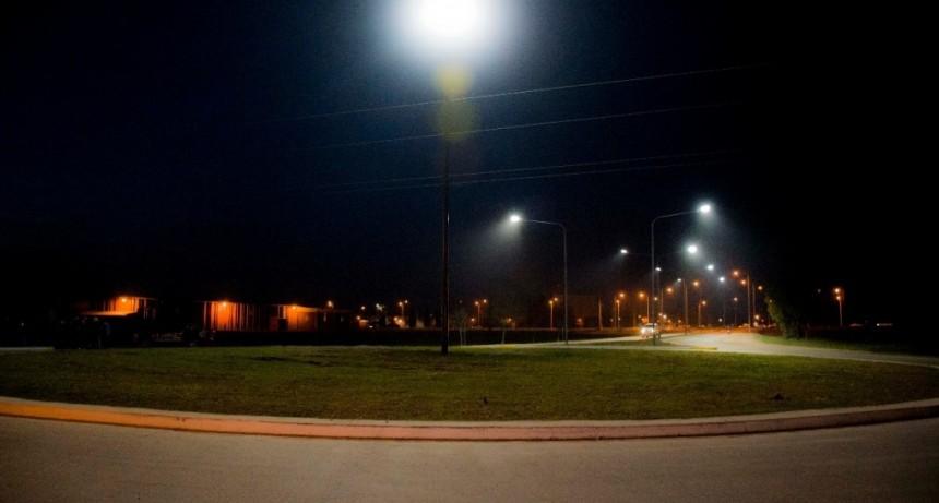 Fue inaugurada la luminaria de acceso a los parques industriales